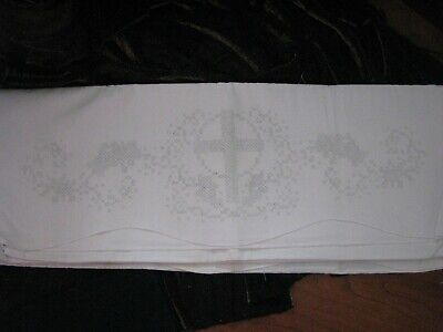 New w/o Package Stamped Cross Stitch Pr. Pillowcases - Cross