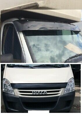 IVECO DAILY  Sun visor and Bug Guard Solid Black Acrylic 2006-2013