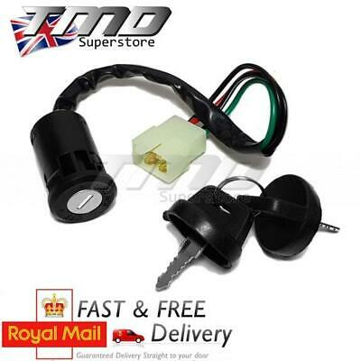 Universal Motorbike Motorcycle 4 Wire Ignition Barrel Key Switch Quad On/Off UK