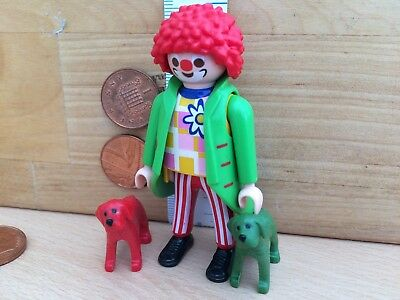 0726 Playmobil New Clown Figure with Puppies / Fancy Dress - Circus / Hospital