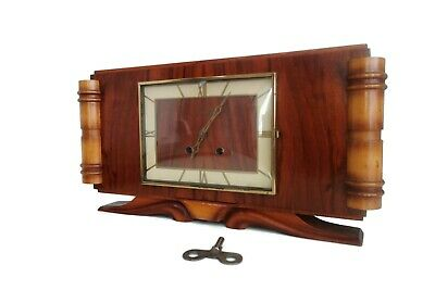 Stunning Mid Century Vintage Mantle Clock From France Vedette 1950s With Gong