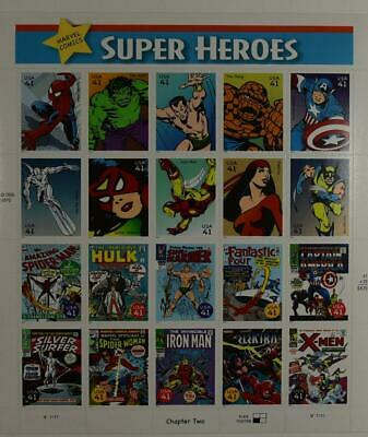 Us Scott 4159 Pane Of 20 Super Heroes Stamps 41 Cent Face Mnh