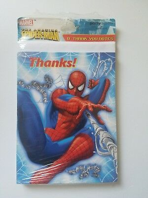 Marvel Spiderman Birthday Party Invitations And Thank You Cards 8 Each