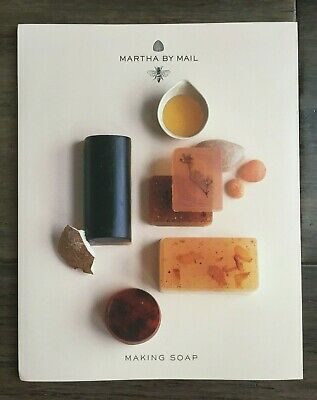 Martha by Mail Natural Soap Kit CSM007-rare in box-oils, pigments, soap, flowers