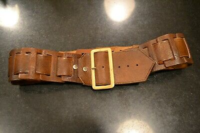 """Vintage Woman's BrownLeather Belt, 33"""" to 37"""""""