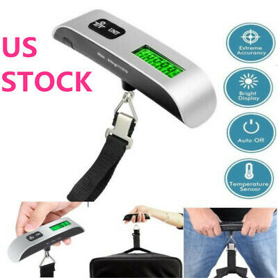 Travel Portable LCD Digital Hanging Luggage Scale Electronic Weight 50kg/10g US