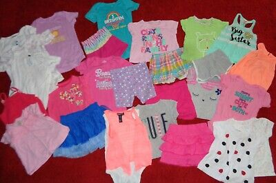 Huge Lot Summer Clothes Shorts Skirts Tops Limited Too Outfits Girls Size 24 Mo.