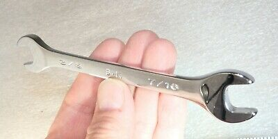 """3/8""""    x 7/16""""  double open end Wrench short pattern  unused SK USA"""