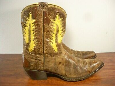 c5a5b8df62cd Women s Johnny Ringo Snip Toe Cowboy Western Distressed Leather Boots Size  9.5