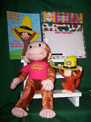 Curious George Plush, Color Book, Flash Light & Dry Erase Board