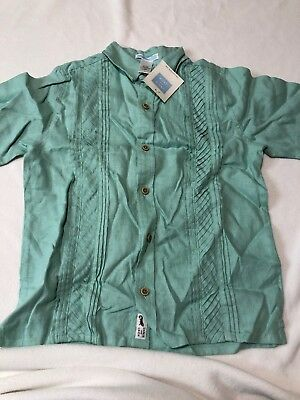 a803903480d3 NWT BOYS JANIE   Jack Turquoise Linen Shirt Size 7 -  25.00