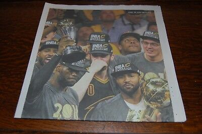 1cfd8e49845 6 20 16 Plain Dealer Special Edition Newspaper Cavaliers LeBron James NBA  Champs