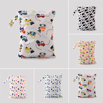 Baby Protable Nappy Washable Nappy Wet Dry Cloth Zipper Waterproof Diaper Bag BT