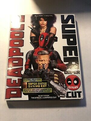 Deadpool 2 (Blu-ray + Digital, 2-Disc Super Duper Cut; 2018) NEW with Slipcover!