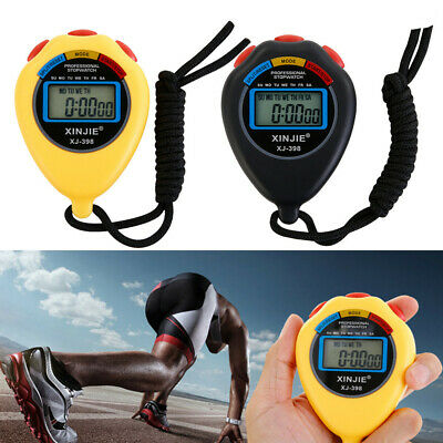 Stopwatch Stop Watch LCD Digital Professional Chronograph Timer Counter Sports E