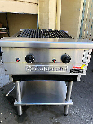 Goldstein commercial gas chargrill with stand in excellent condition