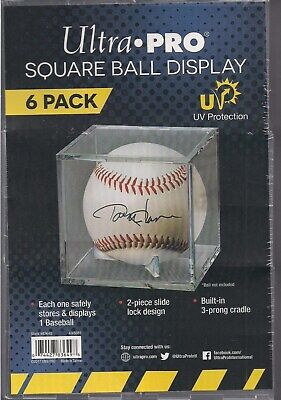 Ultra Pro Square Baseball Displays w/ UV Protection New (6-Count Pack)