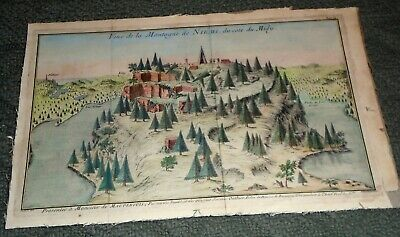 18th Century Original Map of Niemi Mountain in the French Alps in Midy-LOOK!*