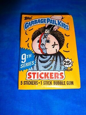 1987 Garbage Pail Kids Original Series 9 Wax Pack from Box!