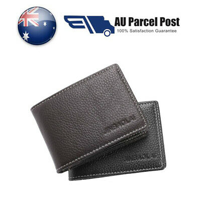 New Genuine Leather Wallet RFID SAFE Contactless Card Blocking ID Protection AU