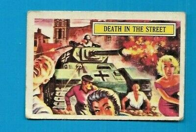 1965 A&bc (Not Topps) Battle Cards British  #13 Death In The Street