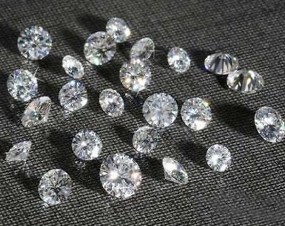 Loose Moissanite Lot 1.30mm White G-H Round Cut 3Pce For Jewelry Ring & Penandal