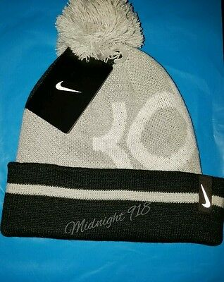 Nike Kevin Durant Pom Beanie Unisex Youth Adult Hat Black Gray White Size  8 20 5956e4933051