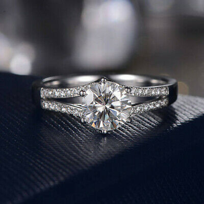 2.50ct White Round Brilliant Cut Diamond Engagement Wedding Ring in 925 Silver