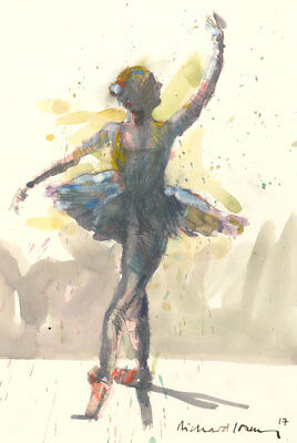 Richard J.S. Young - Signed 2017 Mixed Media, Ballerina