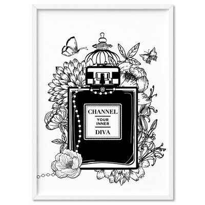 Channel Your Inner Diva / Chanel Bottle - Wall Art Print Poster Canvas