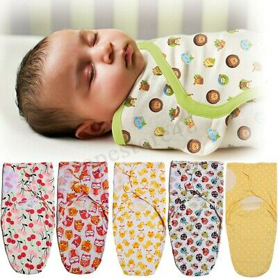 New Baby/Infant Summer Swaddle Blanket Wraps/Sleeping Bag 100% Cotton 0-3 Month
