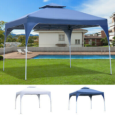 3x3(m) Pop Up Party Tent Canopy Gazebo Shelter w/ 2-tier Roof