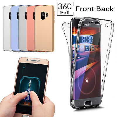 Shockproof 360 Ultra Slim Silicone Clear TPU Case Cover For Samsung Galaxy Phone