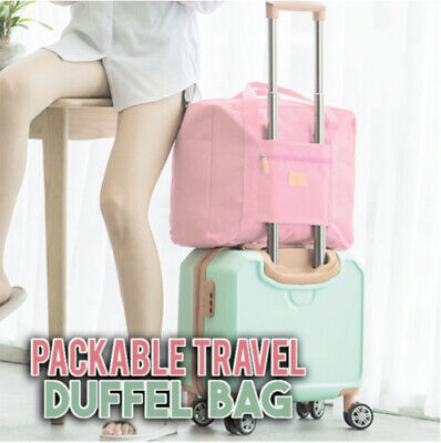 Packable Travel Duffel Bag Tote Carry On Luggage Weekender Overnight Sports Bag