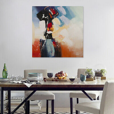 Hand Painted Abstract Canvas Oil Painting Modern Wall Art Home Decor Framed