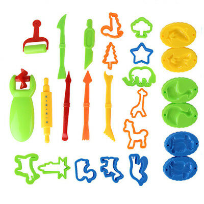 26Pcs Kids Dough DIY Tools Toy Educational Plasticine Mold Modeling Clay Kit ST