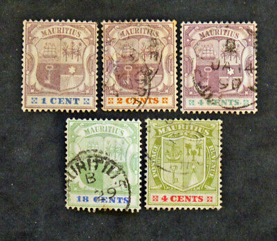 Timbre MAURICE - Yvert et Tellier 5 timbres de 1895/97 (Cyn31) MAURITIUS Stamp