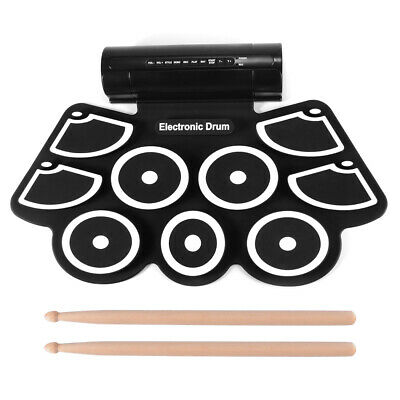 Portable Electronic Drum Set Kit Roll Up Drum Pad for Practice Teaching TH1185