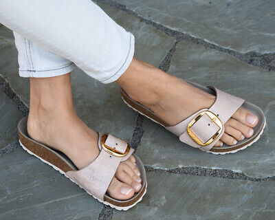 outlet store 4a8c8 1ad0e BIRKENSTOCK MADRID BIG Buckle Washed Metallic Rose Gold 35 ...