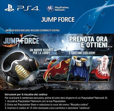 Jump Force Dlc Ps4 Bonus Preorder 3 Exclusives Costumes + Frieza'S Hover Pod