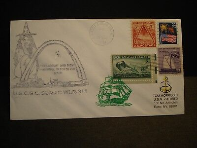 USCGC SUMAC WLR-311 Naval Cover 1991 WITCH Cachet