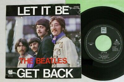 BEATLES LET IT BE/GET BACK EMI/ODEON EAS-17158 Japan VINYL 7