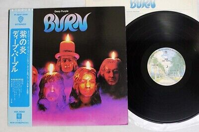 DEEP PURPLE BURN WARNER P-8419W Japan OBI VINYL LP