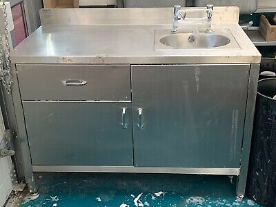 Commercial Sink Unit With Hygiene Taps
