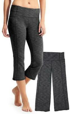 quality design cb072 e16f9 ATHLETA Black Gray ENERGY POWER UP CAPRI Yoga Travel Workout MINT!