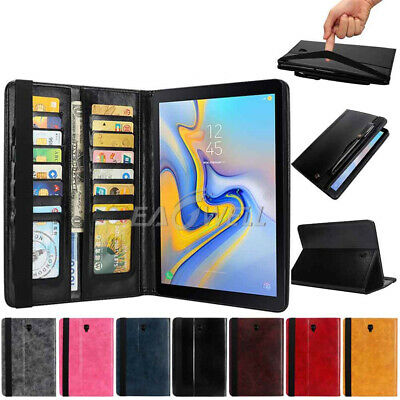 Leather Stand Case Cover WITH Pen Holder For Samsung Galaxy Tab S4 10.5 2018 AU
