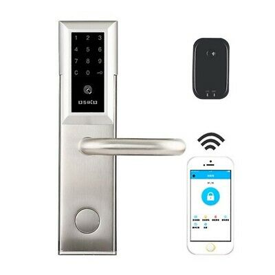 Smart Key Password Card App Digital WiFi Bluetooth CIpher Door Lock W A Gateway