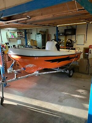 Patriot 350 boat with 20HP Tohatsu outboard and extreme trailer