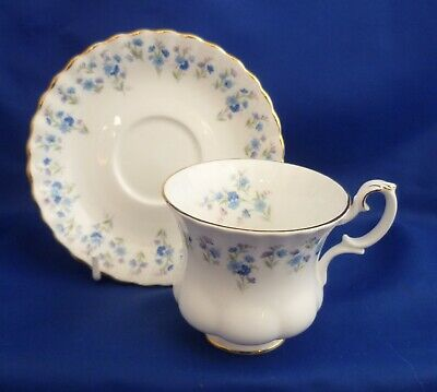 A Royal Albert 'Memory Lane' Coffee Cup And Saucer