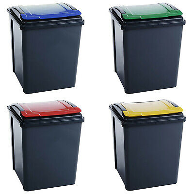 AMOS 50L Recycling Bin Waste Rubbish Sorting Plastic Recycle Container Dustbin